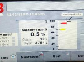 MLÉKÁRNA KUNÍN a.s. (Ostrava - Martinov) - kontinuální měření hladiny v nádrži se záznamem dat_2